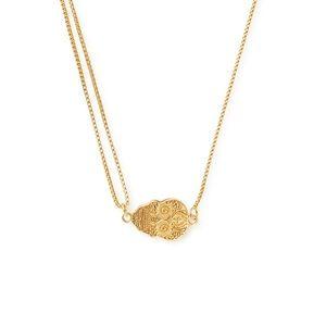 Gold Alex and Ani Calavera Pull Chain Necklace nwt